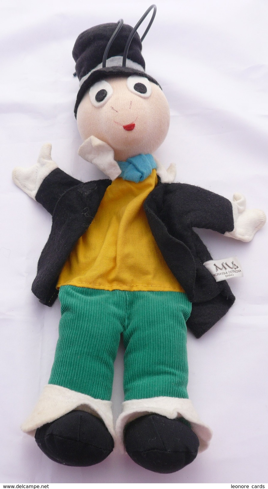 "Marionnette Vintage à Main ""moravska Ustredna"" Jiminy Cricket - Marionetten"