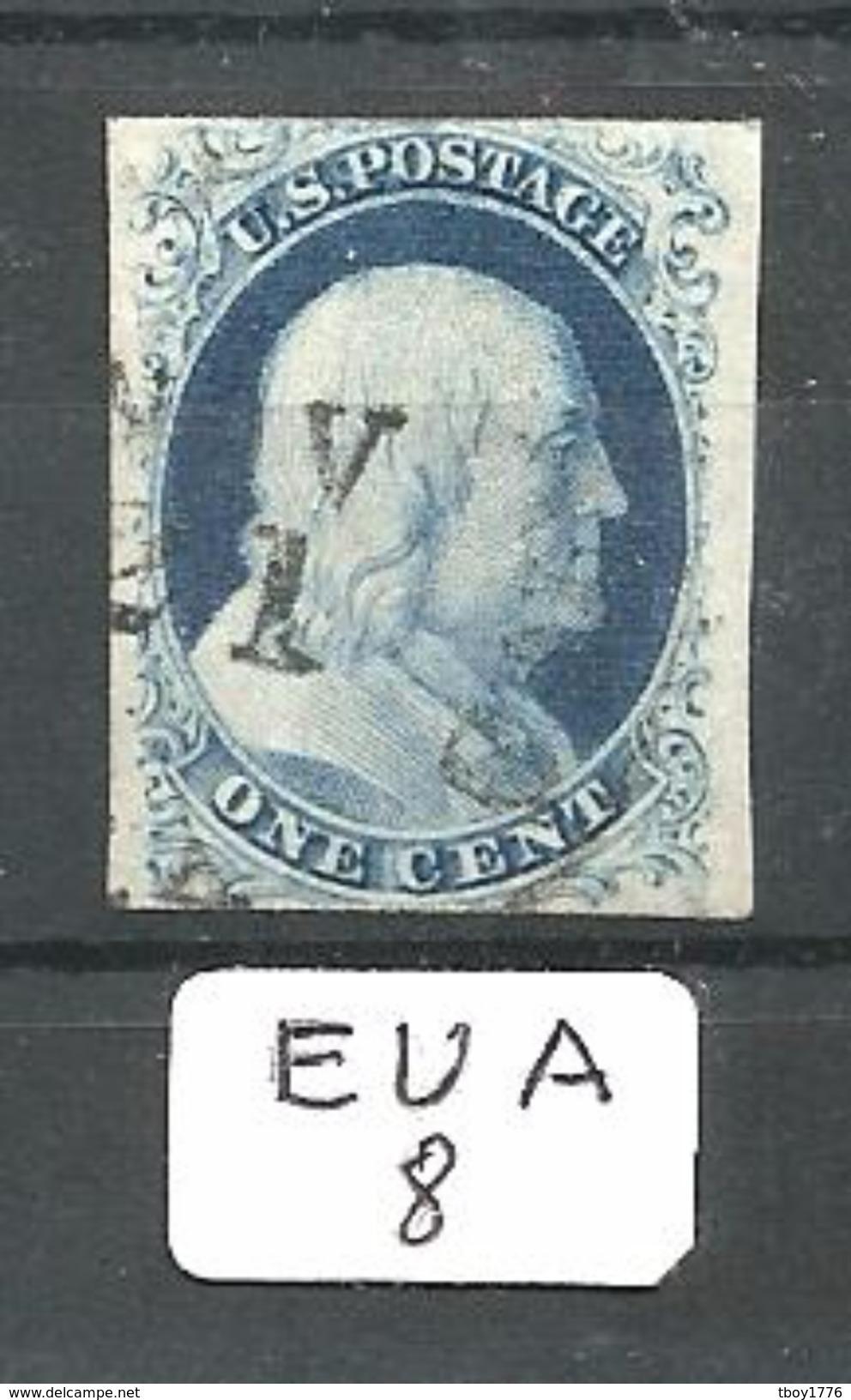 EUA Scott   8 Type III YT 3b (III) - Used Stamps