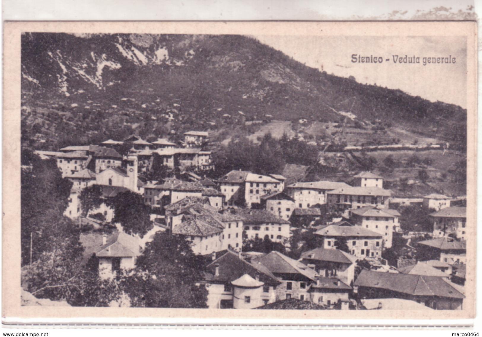 Stenico - Veduta Generale  Viaggiata 1927   F319 - Altre Città