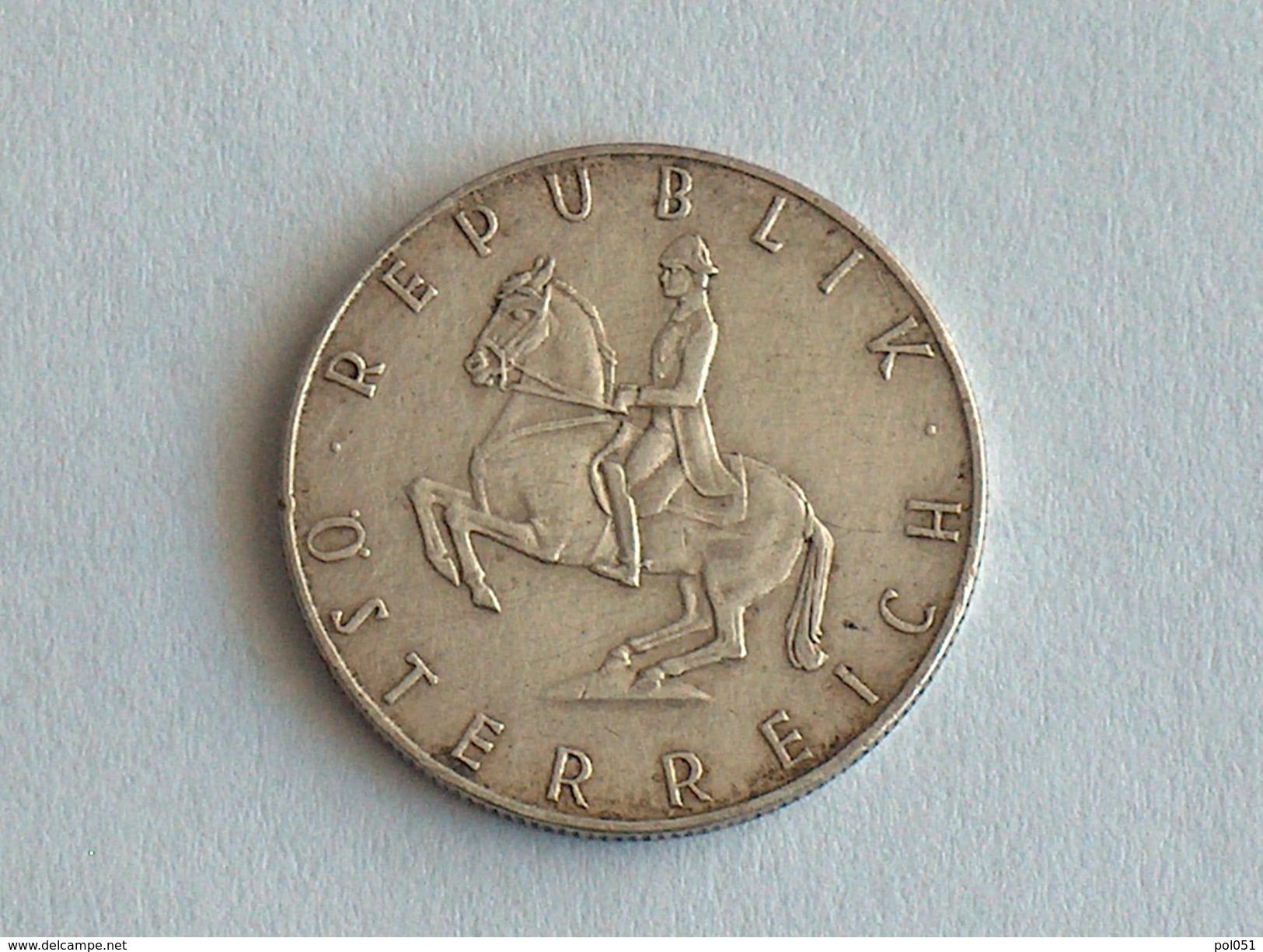 AUTRICHE 5 Schilling 1962 - Silver, Argent - Autriche