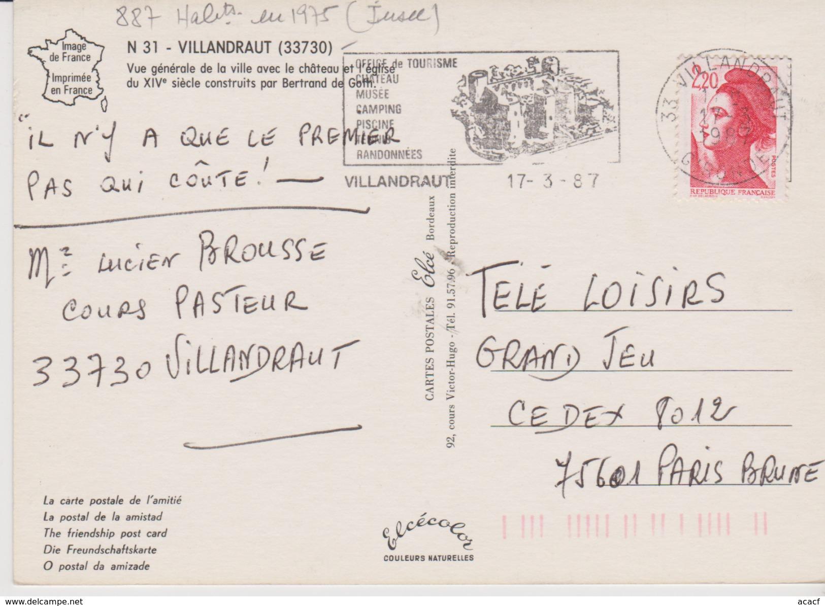 Vue Générale De Villandraut (33)  - - Frankreich