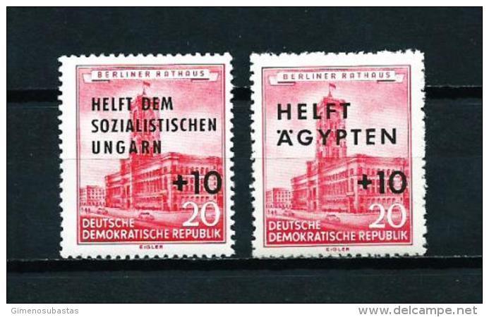 Alemania Oriental (DDR)  Nº Yvert  282/3  En Nuevo - [6] República Democrática