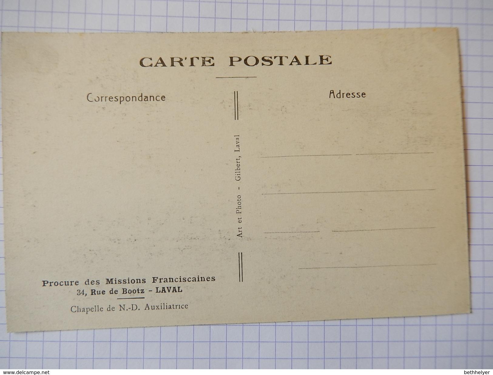 CPA - (53) - LAVAL - PROCURE DES MISSIONS FRANCISCAINES - CHAPELLE DE N.D. AUXILIATRICE - R2319 - Laval