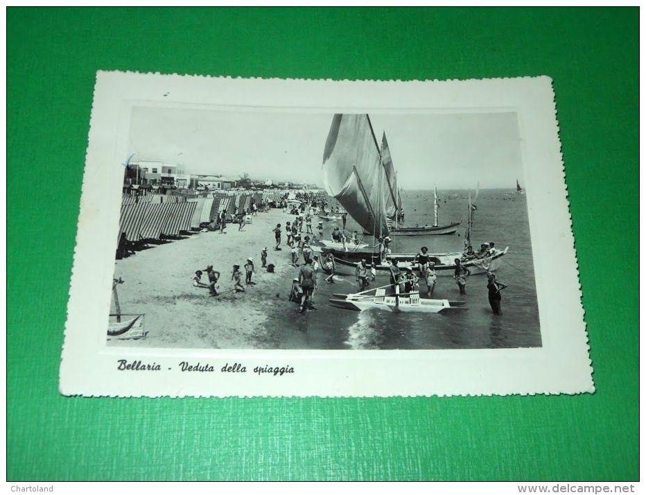 Cartolina Bellaria - Veduta Della Spiaggia 1950 Ca - Rimini