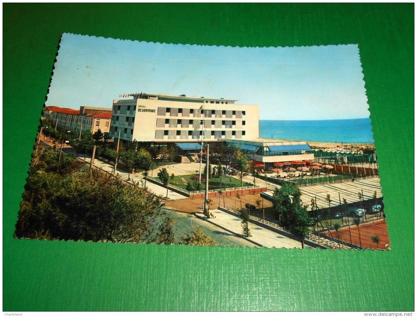 Cartolina Riccione - Hotel Beaurivage 1960 Ca - Rimini