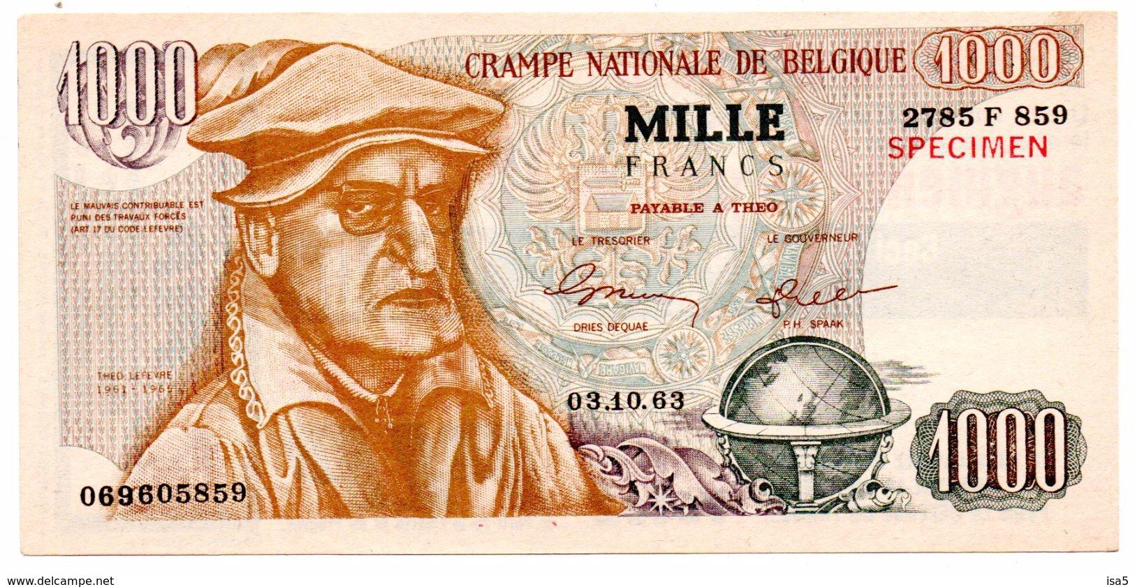 1000 F Crampe Nationale De Belgique - Tract électoral PLP - Altri