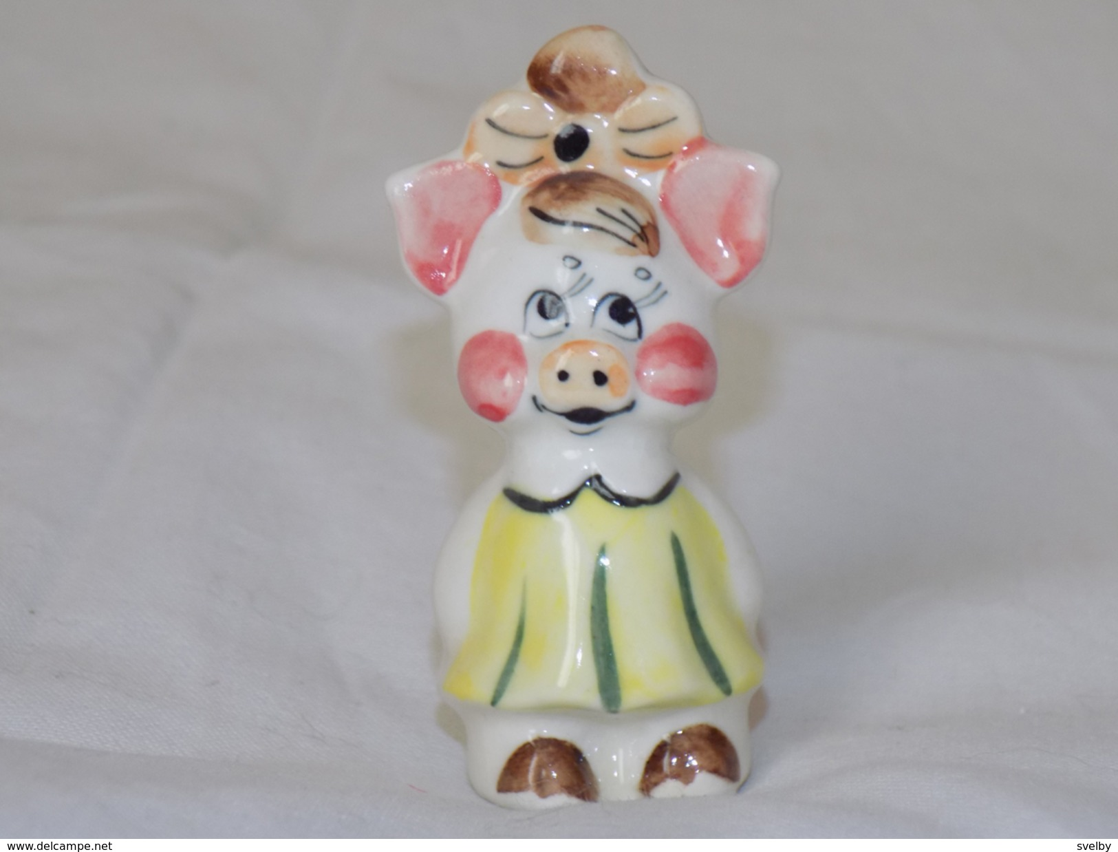 Russian Vintage Statuette Pig - Pigs