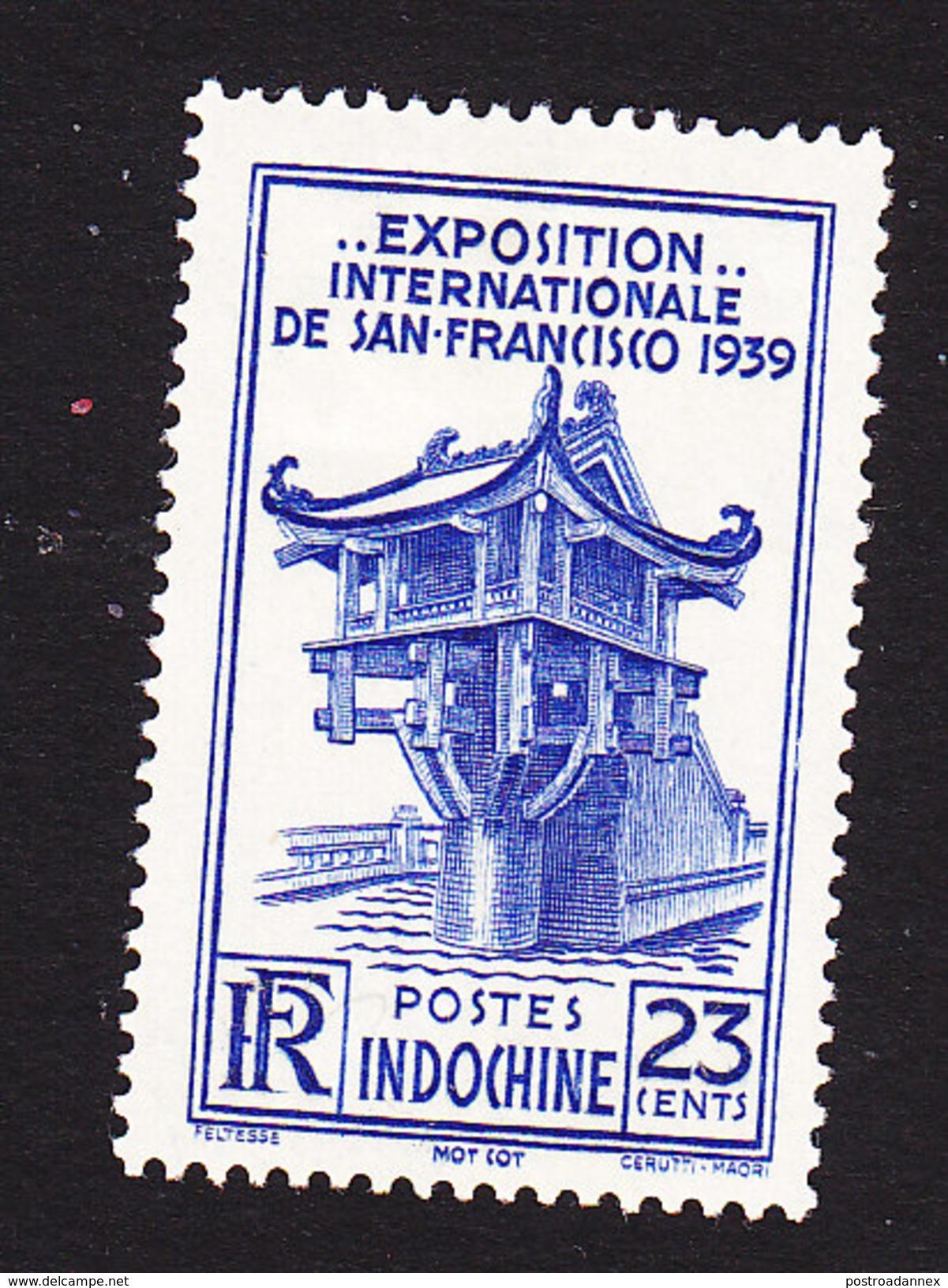 Indo-China, Scott #207, Mint Hinged, Mot Cot Pagoda, Issued 1939 - Indochina (1889-1945)
