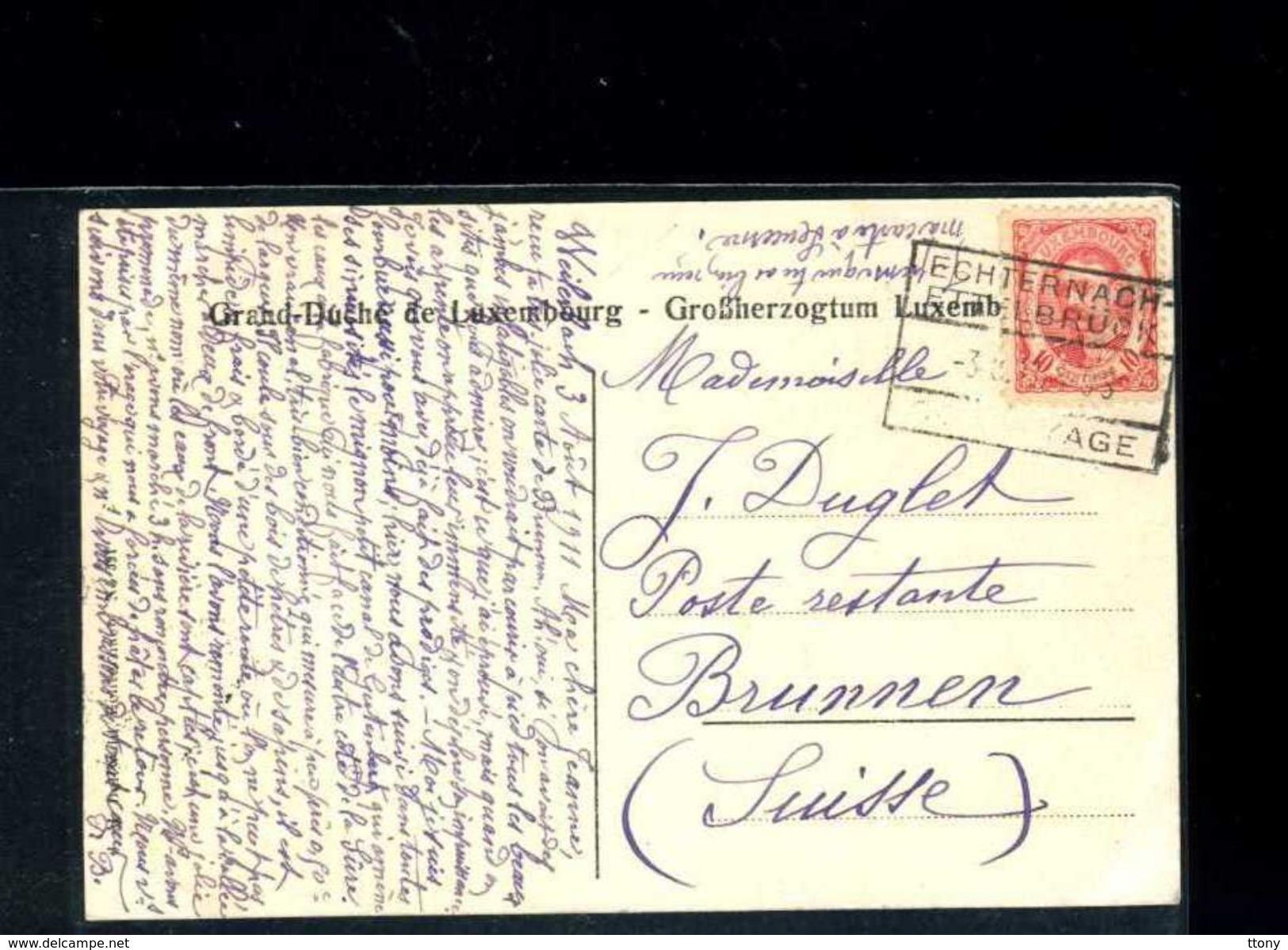 Cpa Echternach  : Die Klause Am  Ernzerberge   1911 : Nombreuses Cartes Luxembougeoise Dans Ma Boutique Et à Venir! - Muellerthal