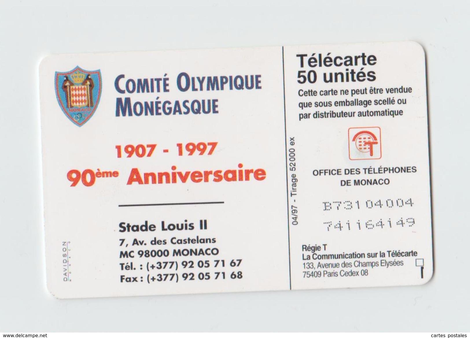 Comité Olympique Monégasque 90ème Anniversaire - Monaco