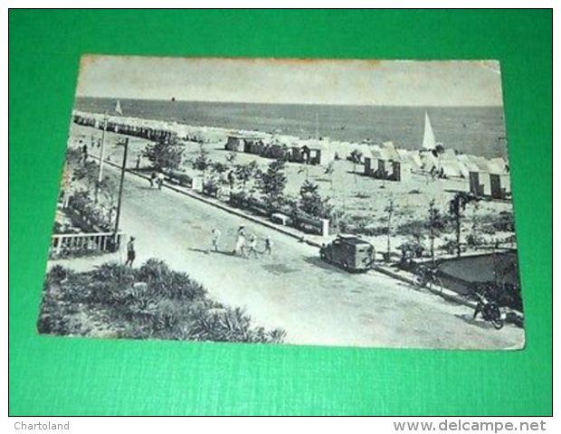 Cartolina Igea Marina - Lungomare 1954 - Rimini