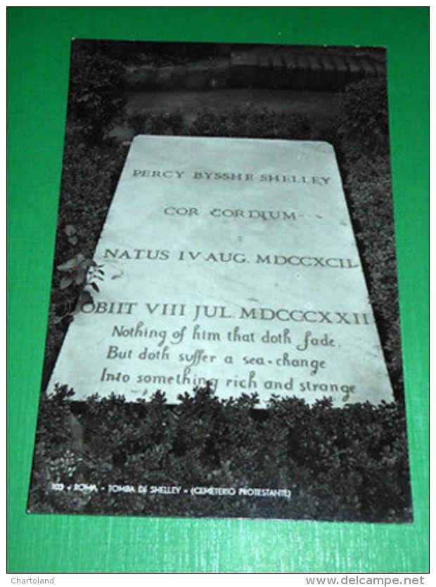 Cartolina Roma - Tomba Di Shelley - Cemeterio Protestante 1950 Ca. - Roma