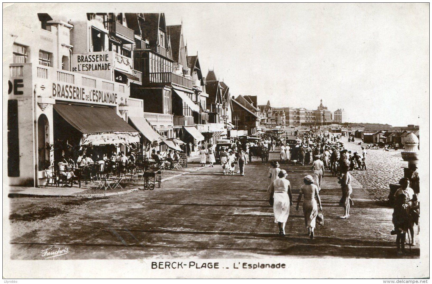 FRANCE - Berck-Plage - Nicely Animated L'Esplanadae  1938 RPPC - Berck