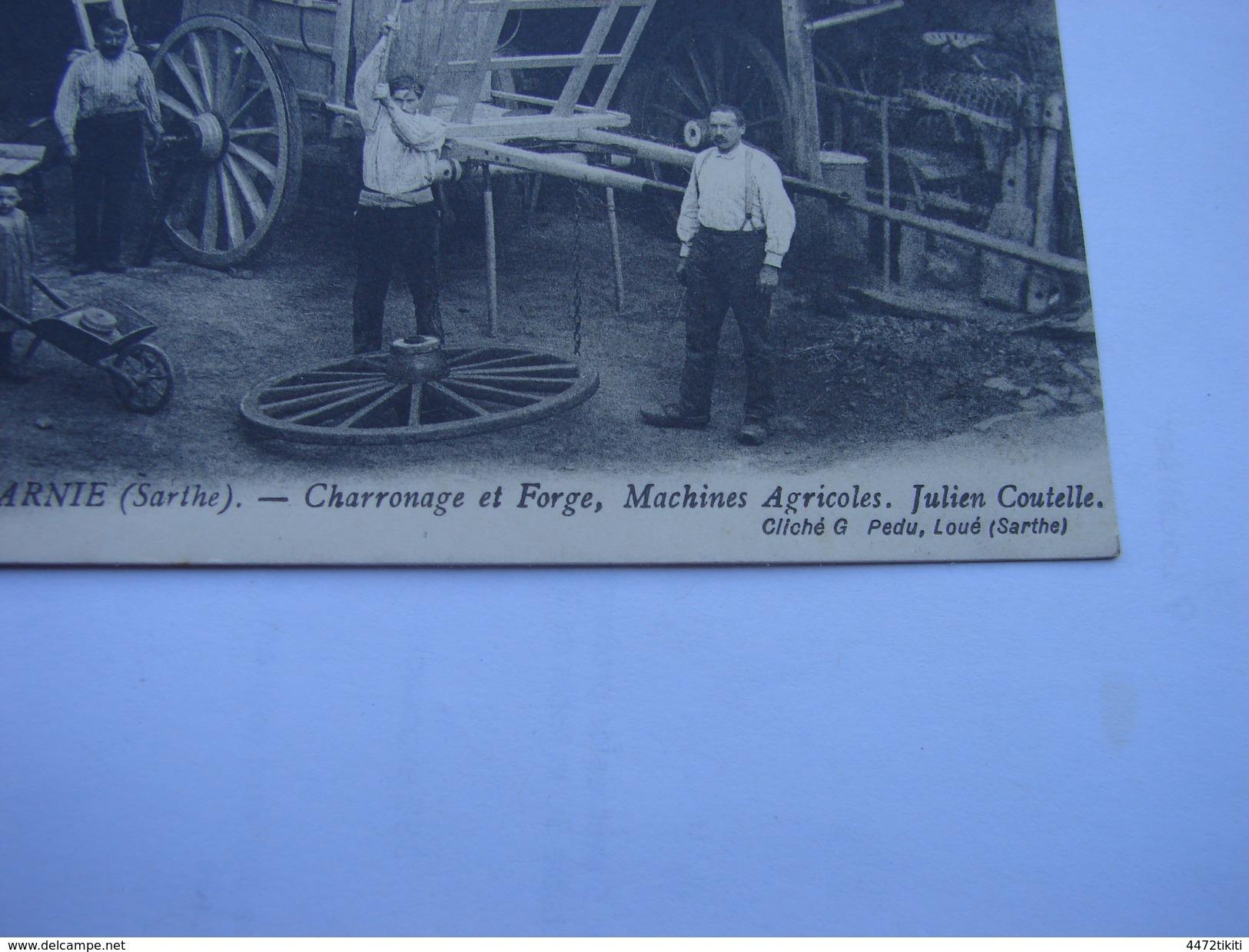 C.P.A.- Chemiré En Charnie (49) - Charronage Et Forge , Machines Agricoles , Julien Coutelle - 1908 - SPL (A80) - France