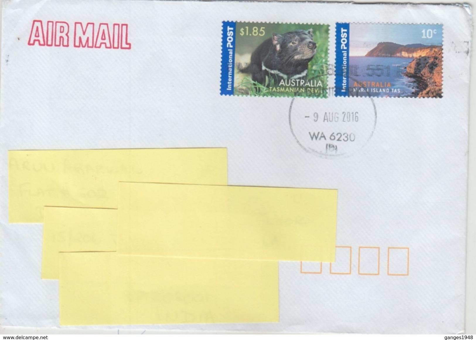 Australia  Tasmanian Devil Stamp  Mailed Cover    #  92784  Inde Indien - Stamps