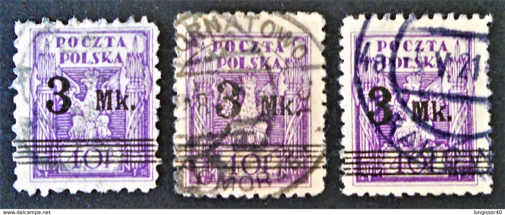 SURCHARGE 1921 - OBLITERES * - YT 230 - VARIETES DE TEINTES ET DE SURCHARGES - Gebraucht