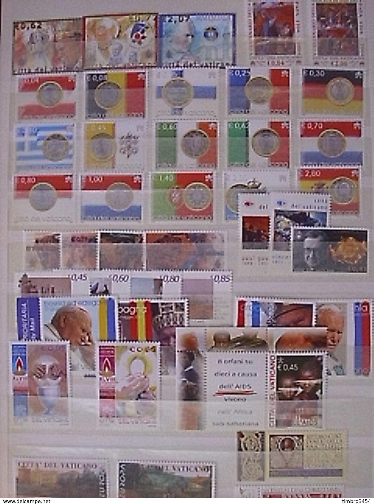 Vatican Belle Collection Neufs ** MNH 2001/2008. Timbres En Euros. Forte Cote. TB. A Saisir! - Vatican