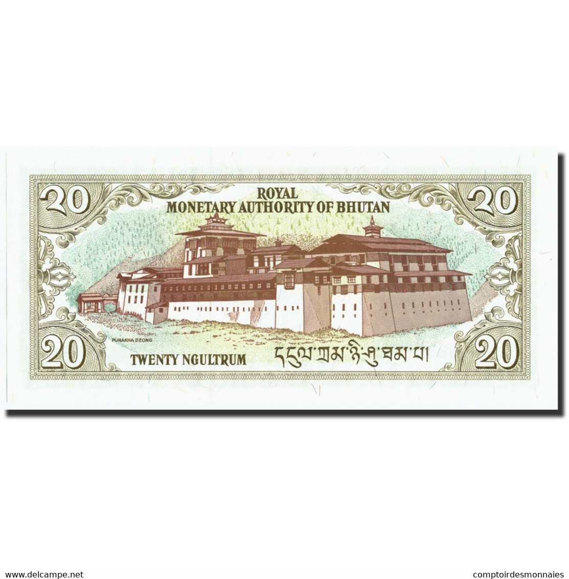 Bhoutan, 20 Ngultrum, Undated (2000), KM:16b, NEUF - Bhoutan