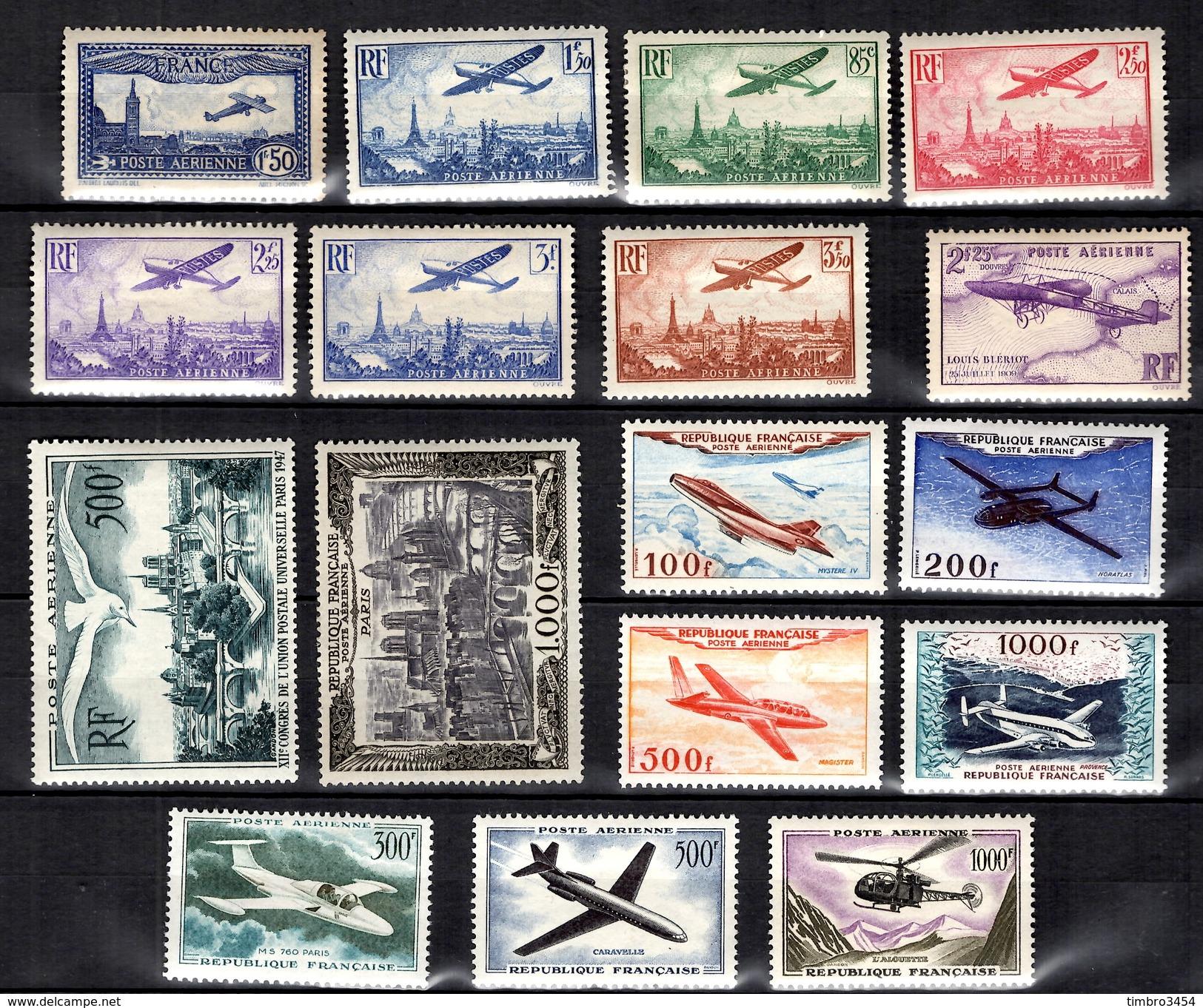 France Belle Collection De Poste Aérienne Neufs **/* 1930/1959. Bonnes Valeurs. B/TB. A Saisir! - Poste Aérienne