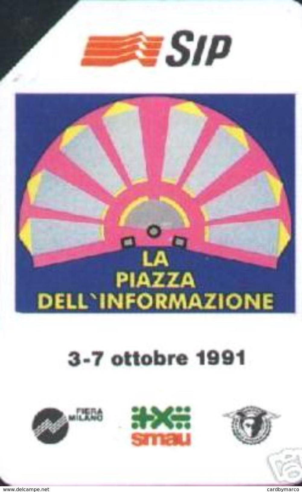 *ITALIA - SIP: SMAU 1991'* - Scheda Usata (variante 136e) - Italy