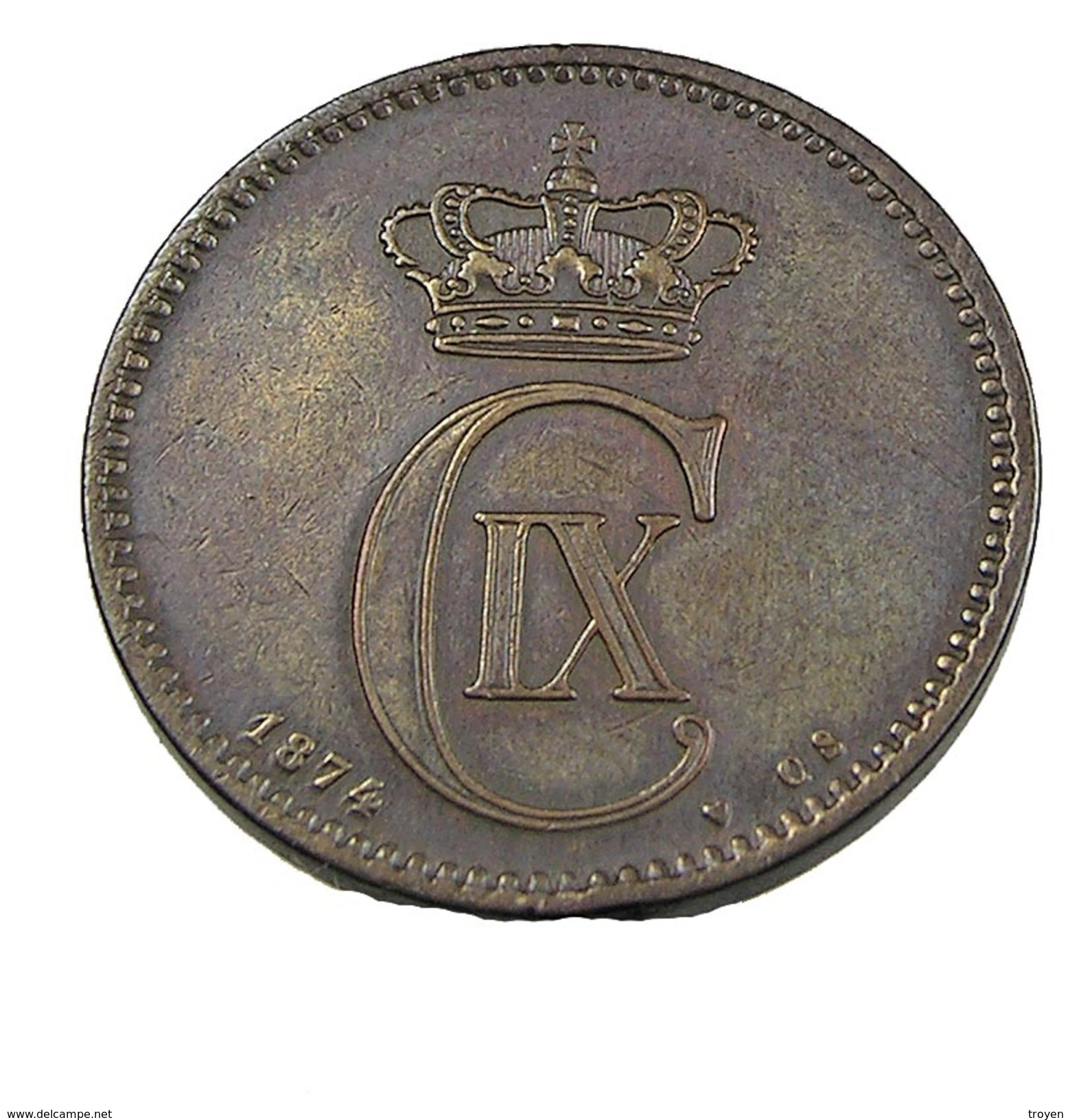 5 Ore - Danemark - 1874 - Bronze - TB+ - - Dinamarca