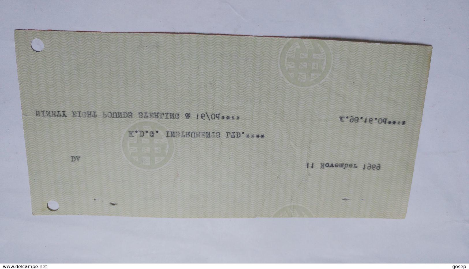 Israel-bank Leumi Le Israrl Limited-(11.11.1969)-(number Cheek-16422) - Israel