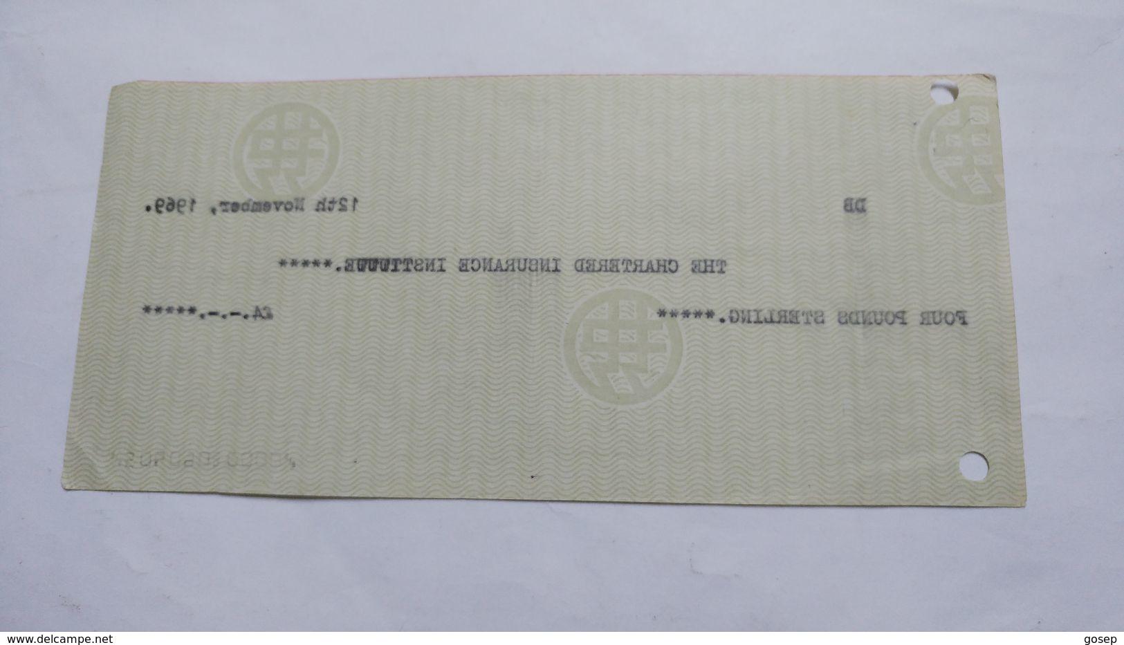Israel-bank Leumi Le Israrl Limited-(12.11.1969)-(number Cheek-18531) - Israel