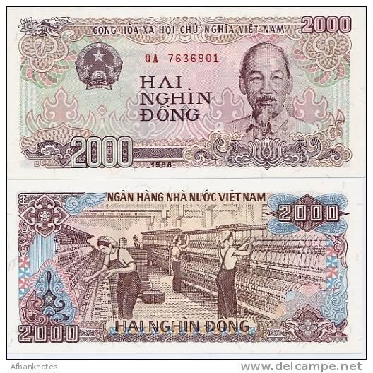VIETNAM         2000 Dong       P-107a      1988      UNC - Vietnam