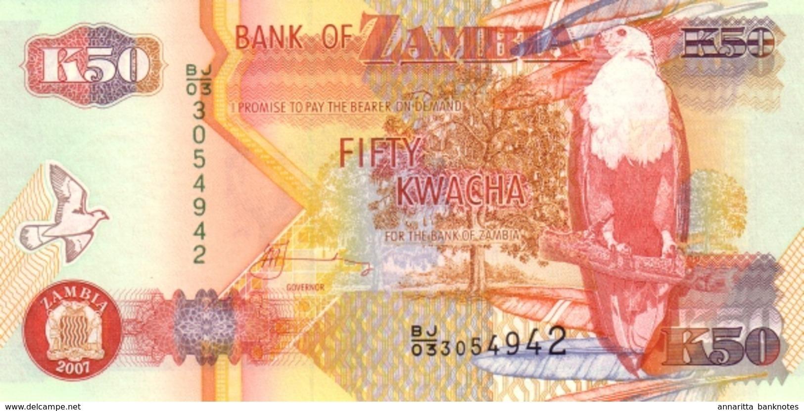 ZAMBIE 50 KWACHA 2007 P-37f NEUF [ZM138g] - Zambia
