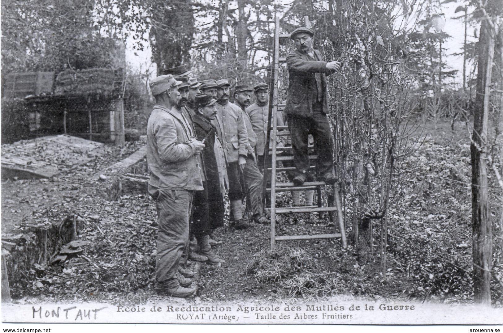 09 - Montaut : Ecole De Reéducation Agricole Des Mutilés De La Guerre - Taille Des Arbres Fruitiers. - Autres Communes