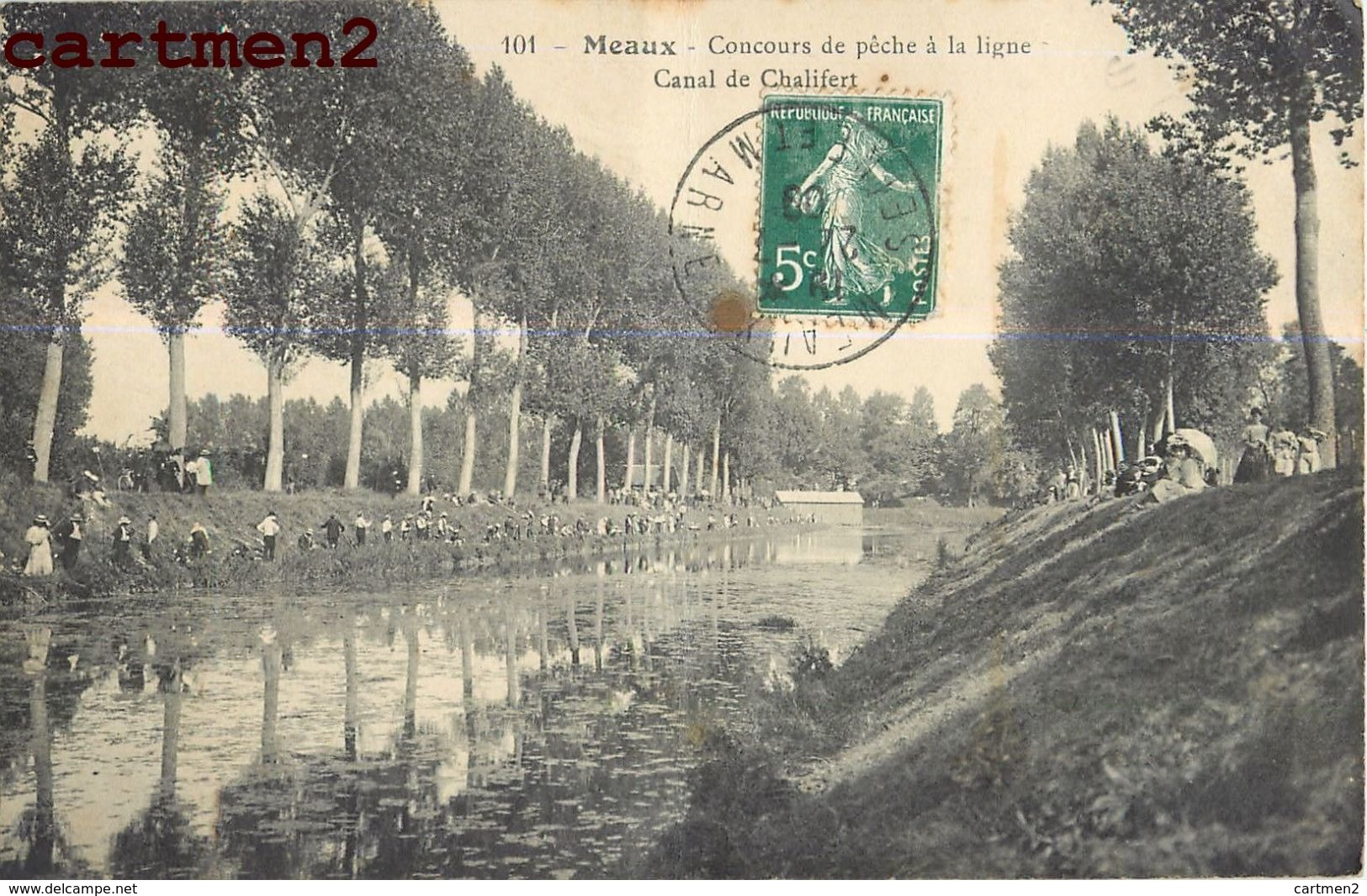 MEAUX CONCOURS DE PECHE A LA LIGNE CANAL DE CHALIFERT 77 - Meaux