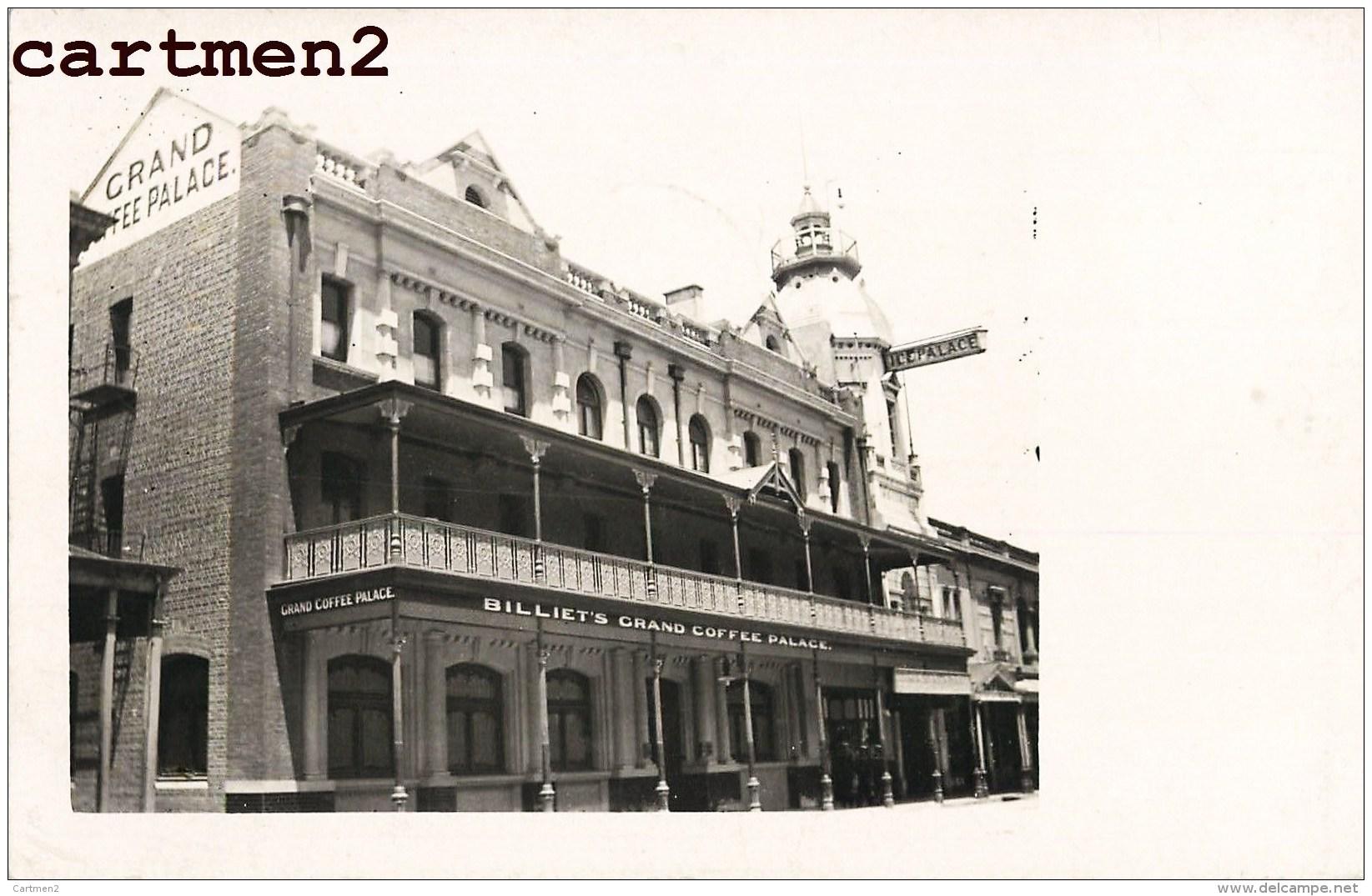 CARTE PHOTO : ADELAÏDE BILLIET'S GRAND COFFEE PALACE AUSTRALIA AUSTALIA - Adelaide