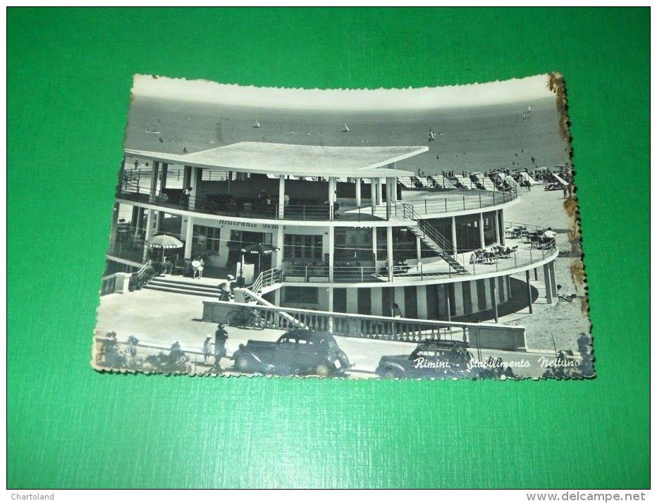 Cartolina Rimini - Stabilimento Nettuno 1956 - Rimini
