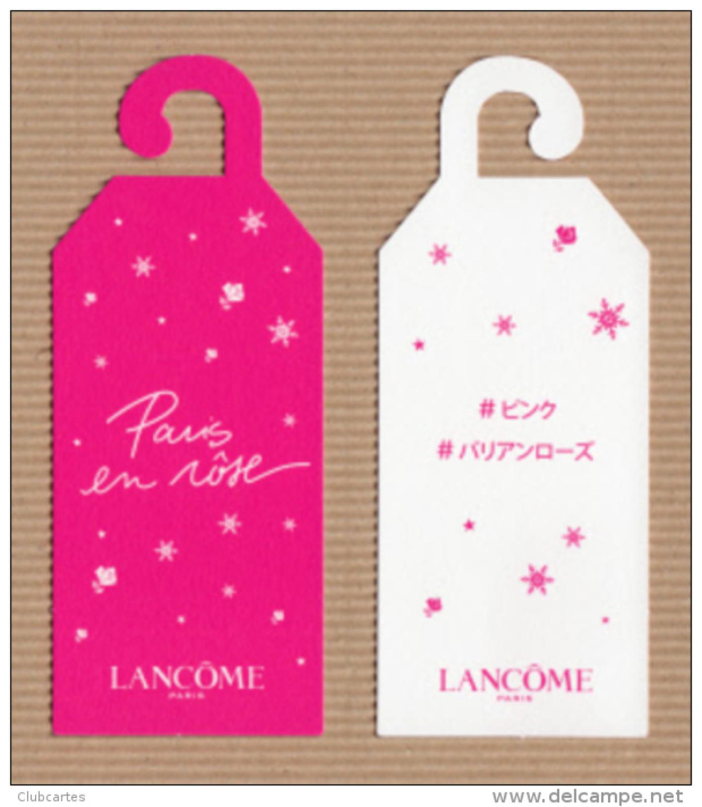 CC Carte Parfumée LANCOME PARIS EN ROSE Perfume Card JAPAN 12x5cm - Modern (from 1961)