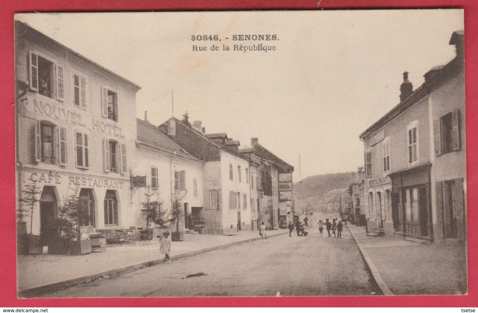 Senones - Rue De La République ( Voir Verso ) - Senones