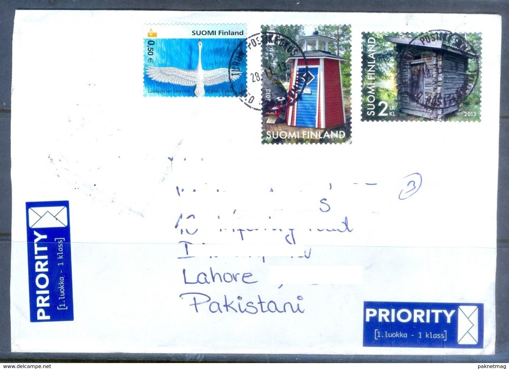 D625- Used Cover Post To Pakistan From Suomi Finland. Bird. Plants. Tree. - Finland