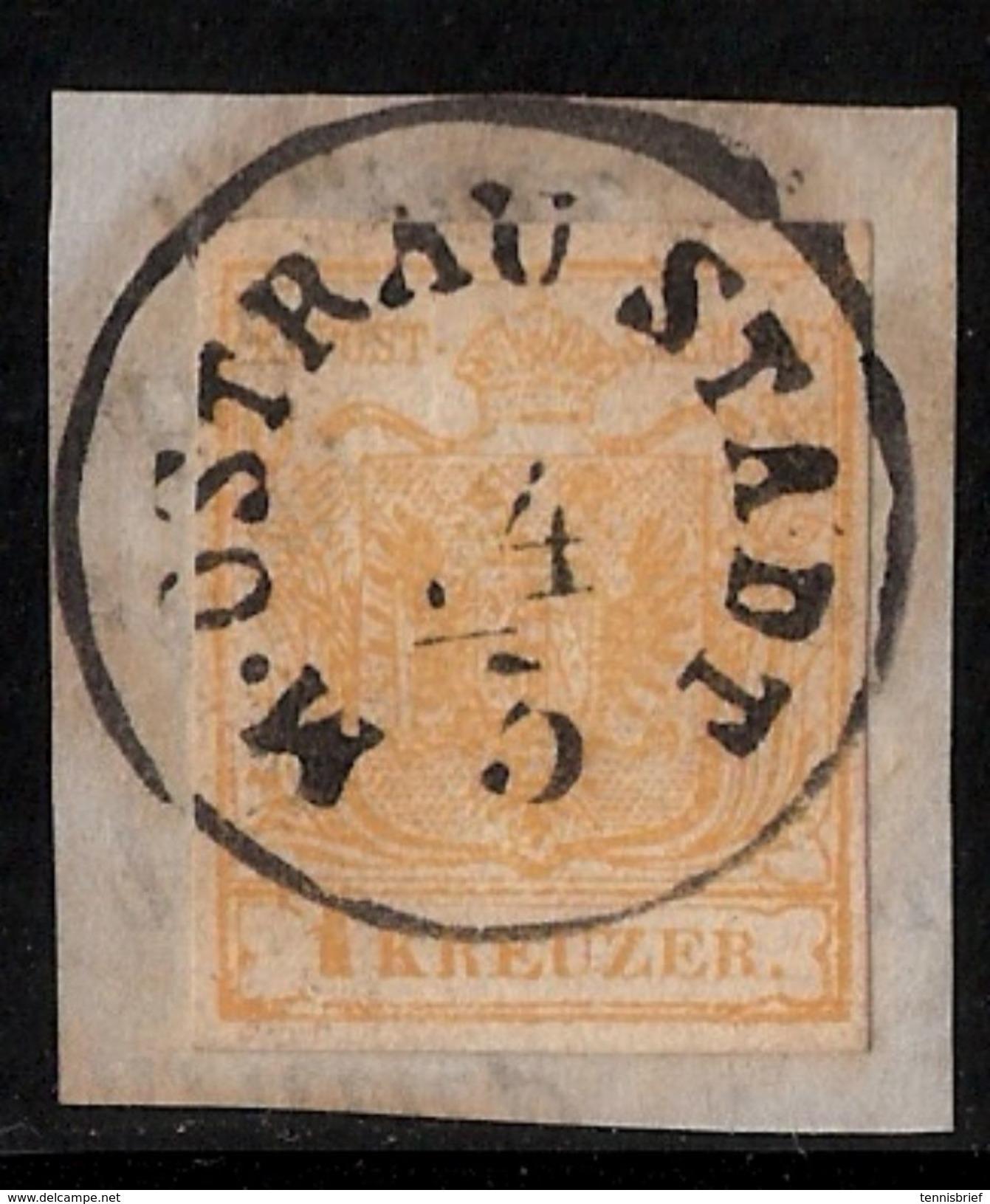 Österreich, Nr. 1y, Schönes Brief-Stück , # 8547 - Oblitérés