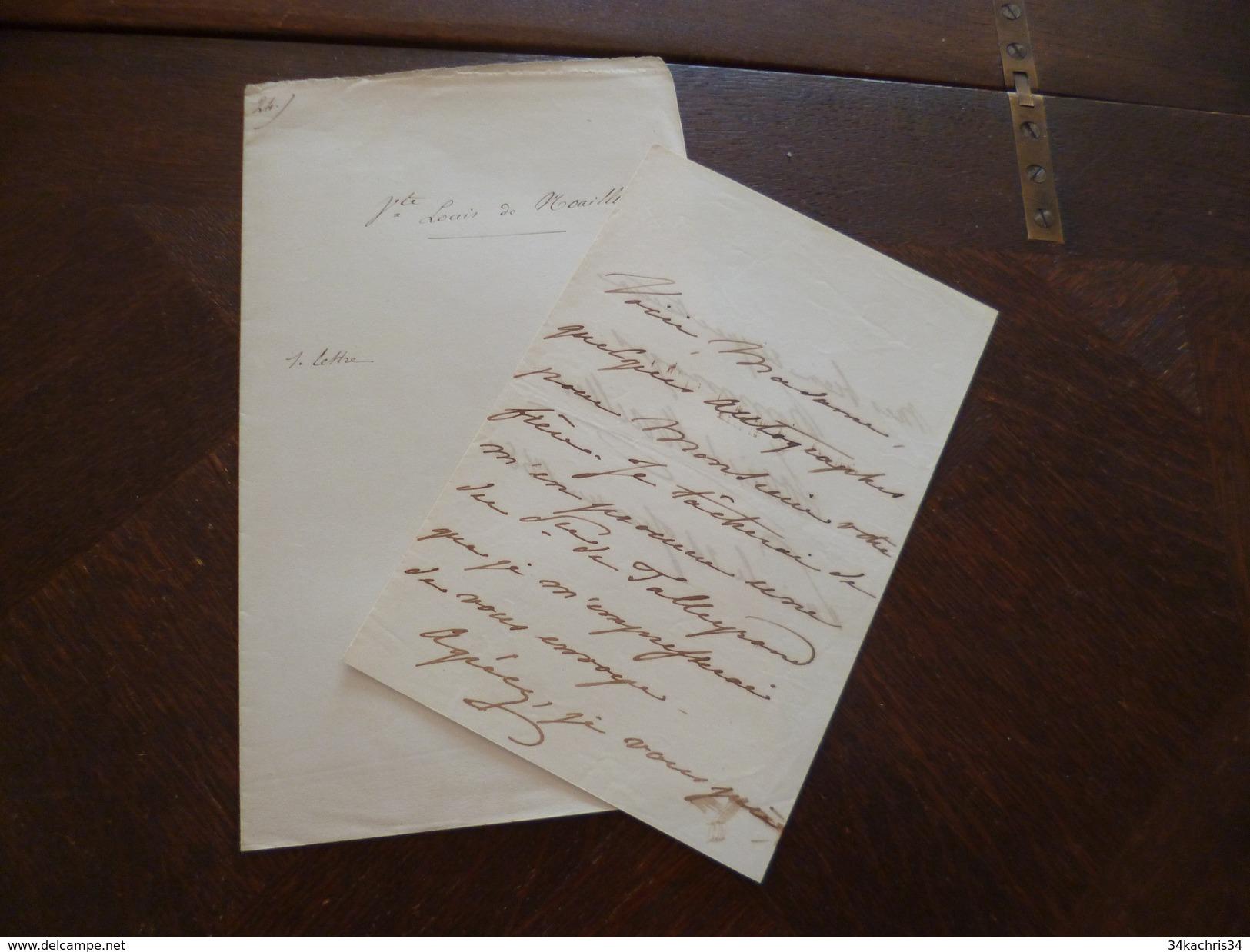 LAS Autographe Vicomte Luois De Noailles à Propos D'autographes; Dont Talleyrand 24/01/1850 - Autographes