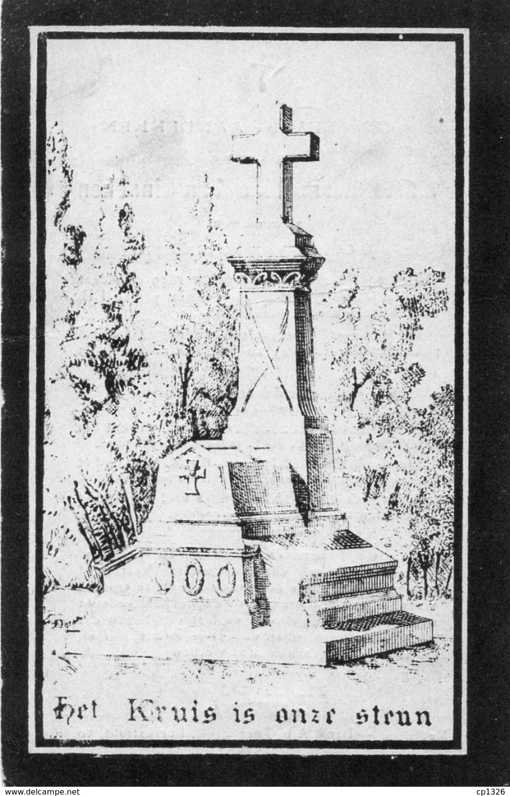 76x  Image Pieuse Chromos Allemagne Souvenir Décés En 1896 Marie Bernardina Van Ginneken - Imágenes Religiosas