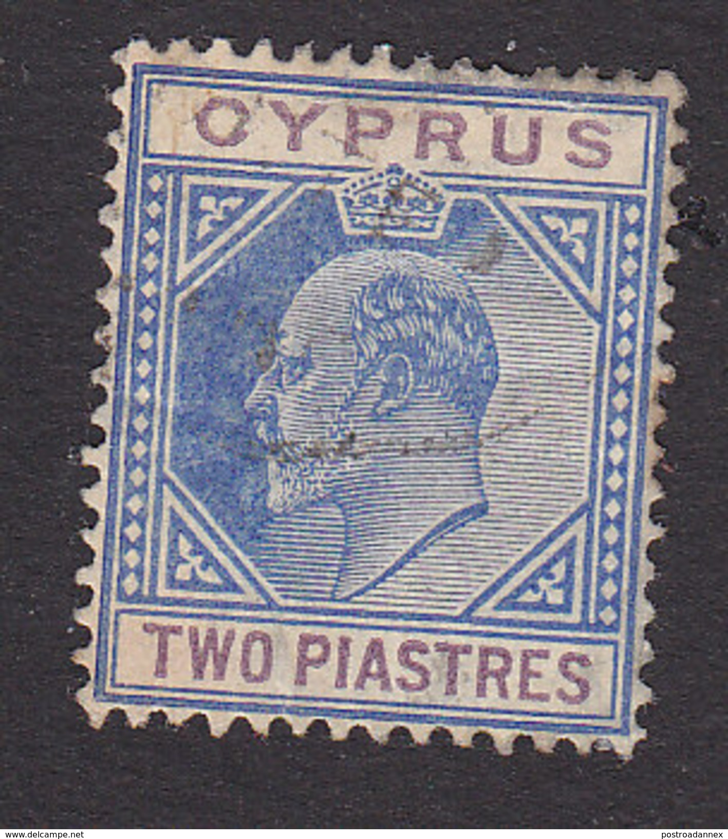 Cyprus, Scott #65, Used, King George V, Issued 1912 - Chypre (...-1960)