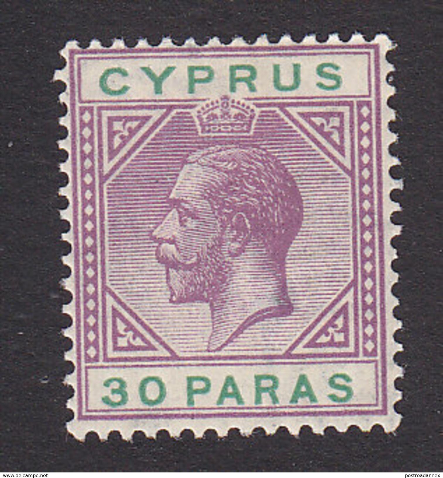 Cyprus, Scott #74, Mint Hinged, King George V, Issued 1921 - Cyprus (...-1960)
