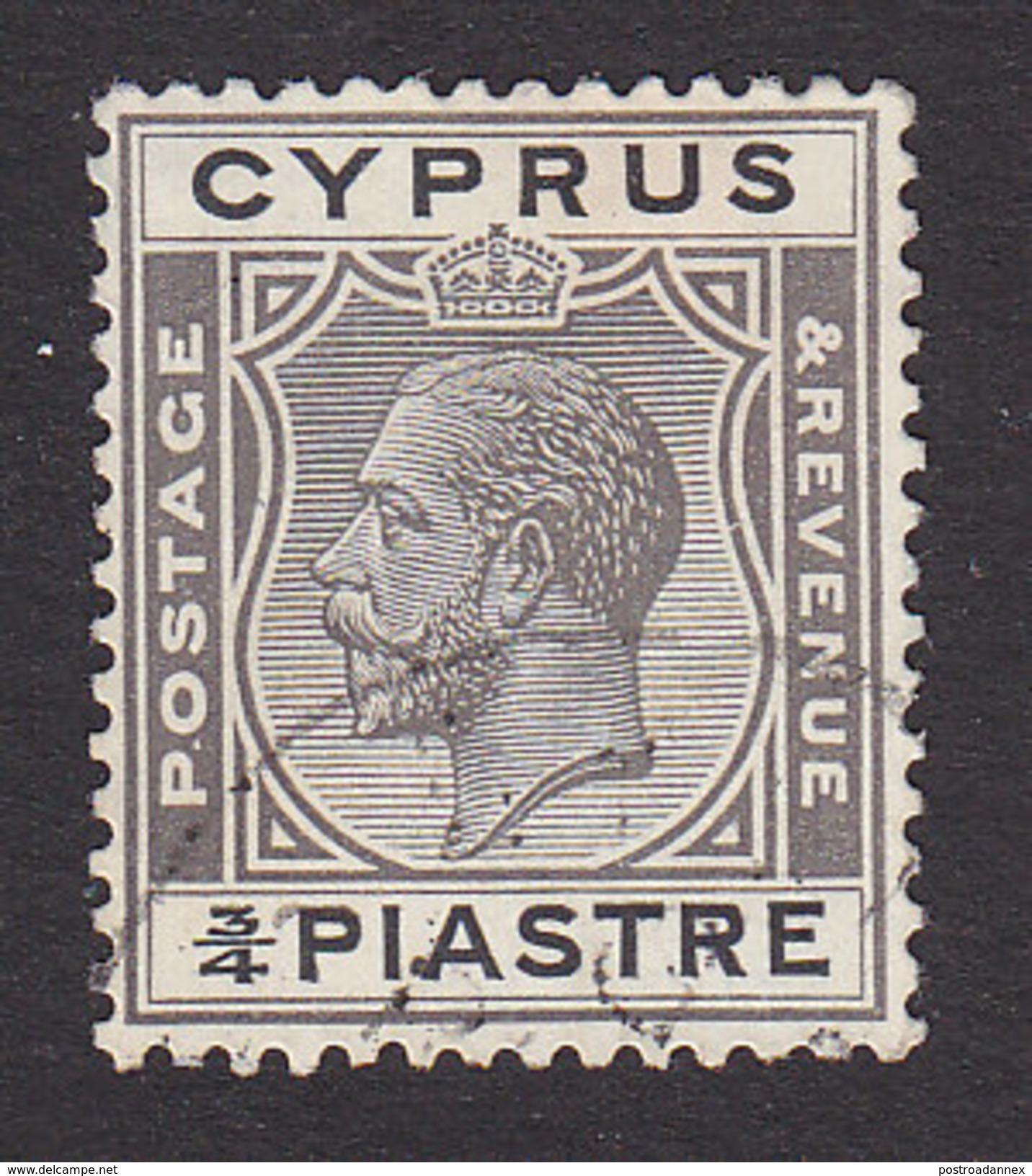 Cyprus, Scott #93, Used, King George V, Issued 1924 - Cyprus (...-1960)