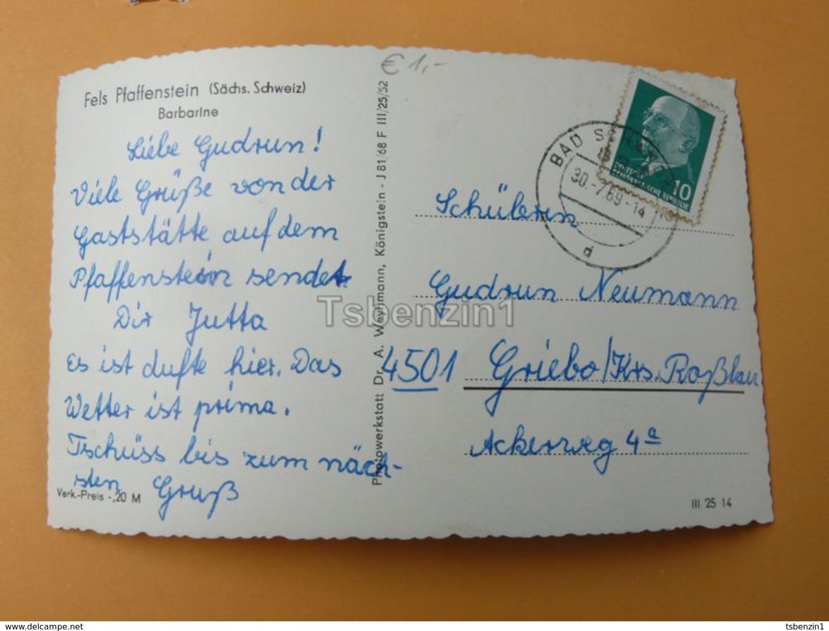 Fels Pfaffenstein, Germany - Germania