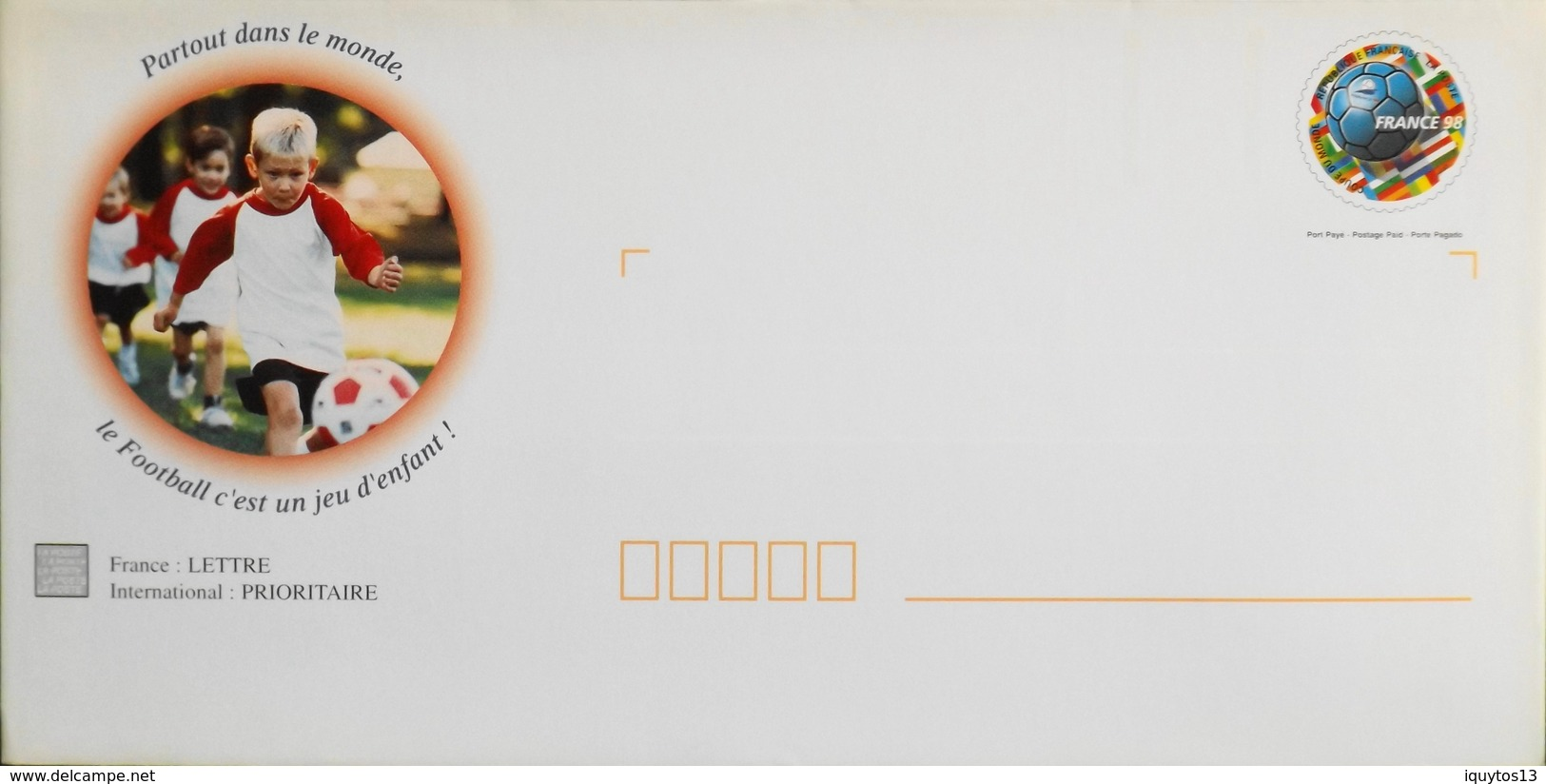 FR 1998 - Prêts-à-Poster Illustrée Avec Son Carton Illustré à L'Intérieur De L'Enveloppe  (2 Scans Rect / Verso) - TBE - Entiers Postaux
