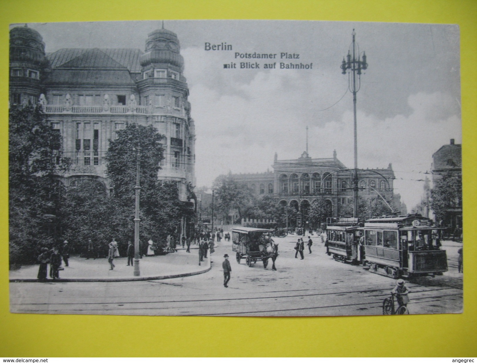 CPA  Berlin - Potsdamer Platz Nit Blick Auf Bahnhof - Place De La Poste Vue Sur La Gare - Monuments