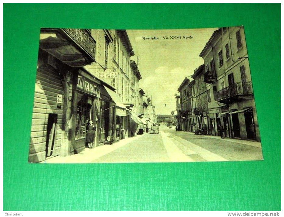 Cartolina Stradella - Via XXVI Aprile 1949 - Pavia