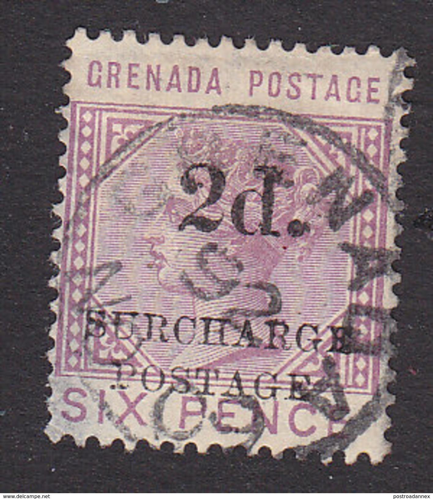Grenada, Scott #J6, Used, Queen Victoria Surcharged, Issued 1892 - Grenada (...-1974)