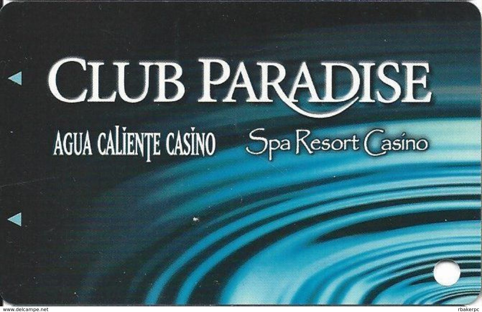 Agua Caliente & Spa Resort Casinos In California, USA - Slot Card (BLANK) - Casino Cards