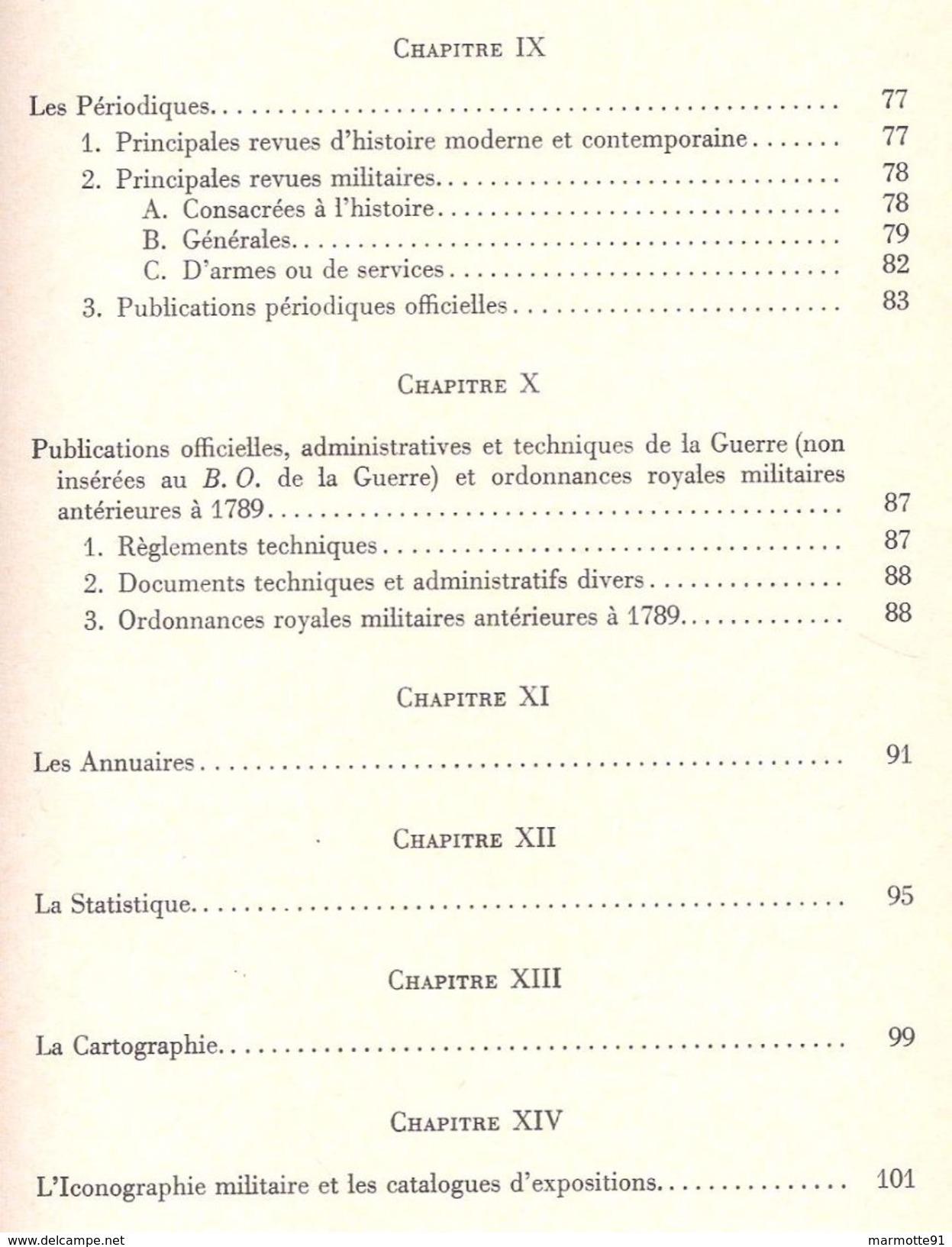ARMEE FRANCAISE GUIDE BIBLIOGRAPHIQUE SOMMAIRE HISTOIRE MILITAIRE COLONIALE FRANCAISE - Livres