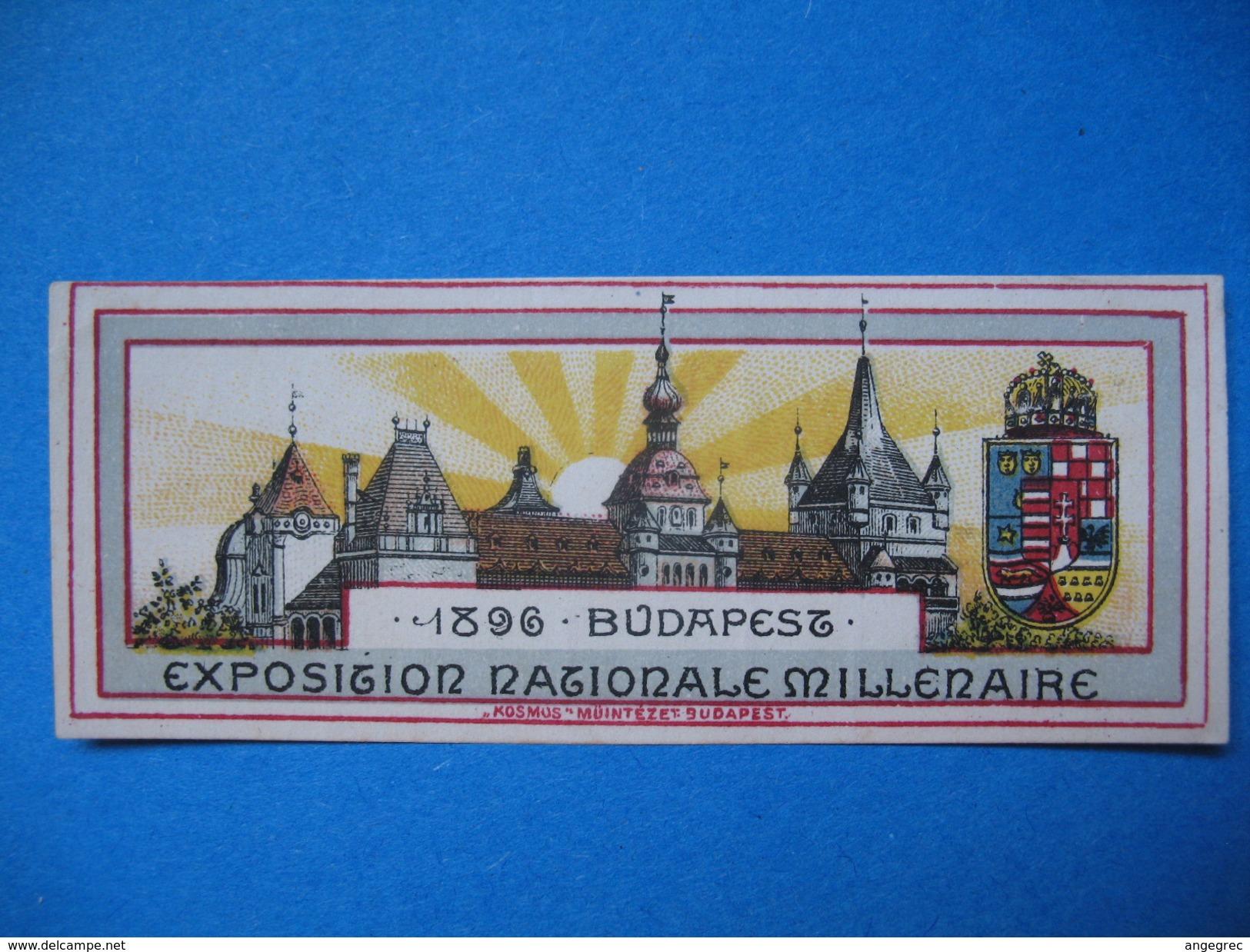 Vignette ; Budapest 1896  Exposition Nationale Millenaire - Cinderellas